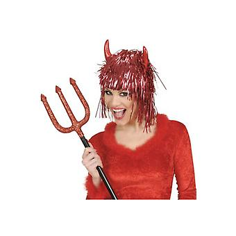 Wigs  Tinsel Devil Wig With Horns