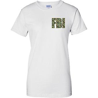 Federal Bureau of Investigation - FBI Polizei - Camo-Effekt - - Damen Brust Design T-Shirt