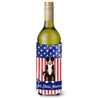 Patriotic USA Appenzeller Sennenhund Wine Bottle Beverge Insulator Hugger