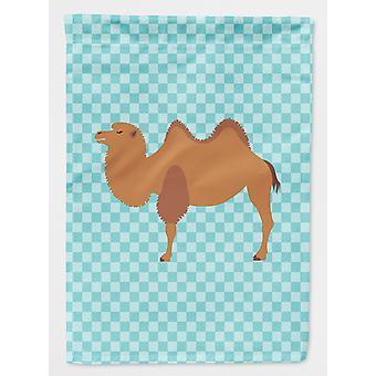 Carolines Treasures  BB7992GF Bactrian Camel Blue Check Flag Garden Size