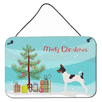 American Toy Fox Terrier Christmas Wall or Door Hanging Prints