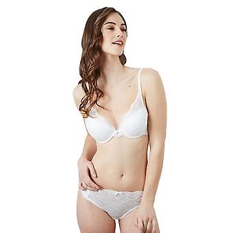 Guy de France 821610-4 Women's Emma Ivory Lace Padded Underwired Plunge Bra