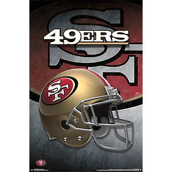 San Francisco 49ers - Helmet 15 Poster Poster Print