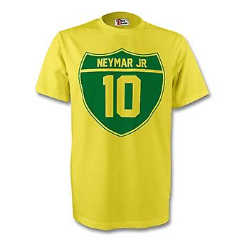 Neymar Jr Brasilien Crest Tee (gelb) - Kids