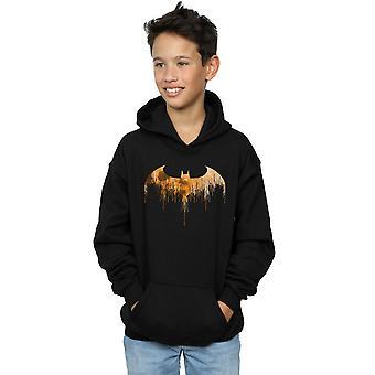 DC Comics jungen Batman Arkham Knight Halloween Mond Logo füllen Hoodie