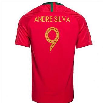 2018-2019 Portugal Home Nike Football Shirt (Andre Silva 9)