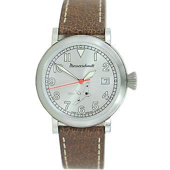 Aristo gentlemen Messerschmitt Fliegeruhr ME163 SIL watch leather