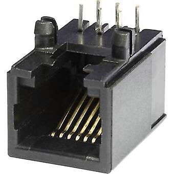 Modulare montierten Socket Socket, horizontale Halterung MEB6/6PL schwarz Econ verbinden MEB6/6PL 1 PC