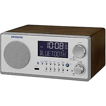 Sangean WR-22 Radio de escritorio FM, AM AUX, Bluetooth Walnut