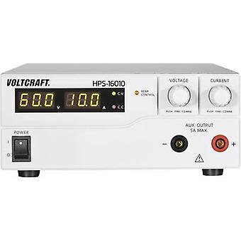 VOLTCRAFT HPS-16010 Bench PSU (tension réglable) 1 - 60 V DC 0 - 10 A 600 W Remote No. des sorties 1 x