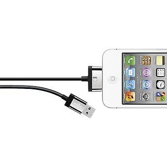 Belkin iPad, iPhone eller iPod Data kabel/laddare leda [1 USB 2.0-kontakt A - 1 x Apple dock plug] 2 m svart