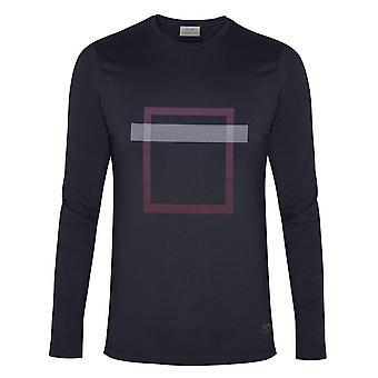 CC Collezione Corneliani Navy Square Stampa T-Shirt