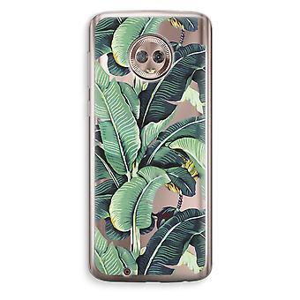 Motorola Moto G6 transparant Case (Soft) - bananenbladeren