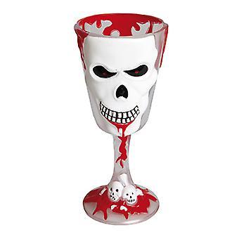 Kauhu viini lasi kallo 18 cm kauhu gootti lisävaruste Carnival Halloween EMO