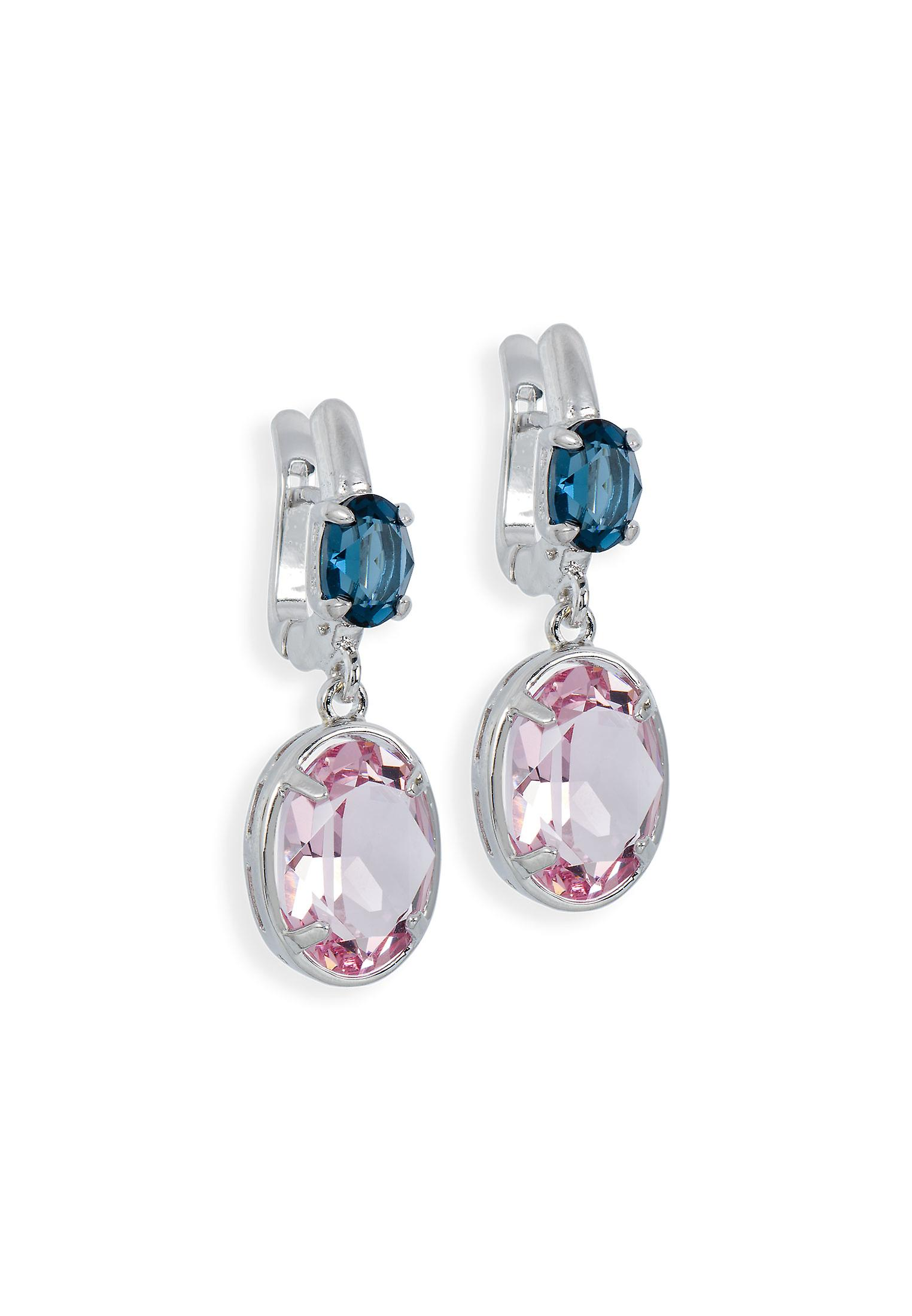 Multicolor earrings with crystals from Swarovski 4758