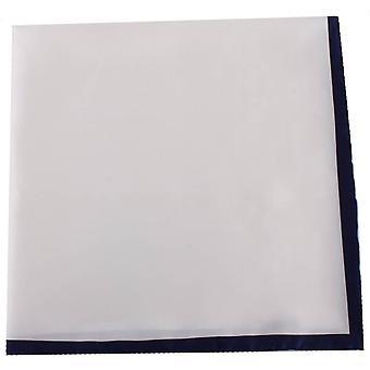 Michelsons de Londres Shoestring fronteira lenço - White/Navy