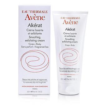 Avene Akerat Smoothing Exfoliating Cream (for Extremely Dry And Rough Skin) - 200ml/7.05oz