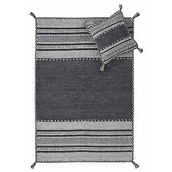 Kelim Charcoal  Rectangle Rugs Modern Rugs