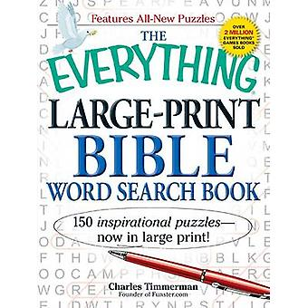De alles groot-Print Bijbel Word Search boek - 150 inspirerende