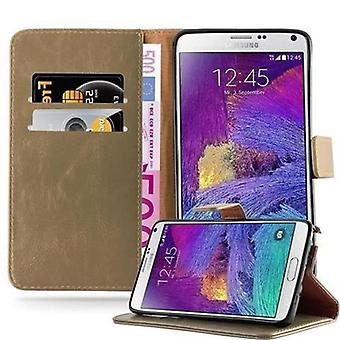 Cadorabo Case for Samsung Galaxy NOTE 4 Case Cover - Phone Case with Magnetic Closure, Stand Function and Card Case Compartment - Case Cover Case Case Case Case Book Folding Style