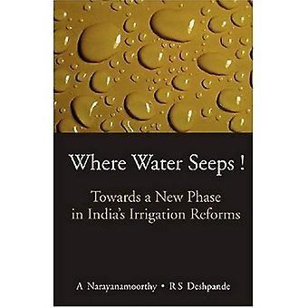 Where Water Seeps!: Towards a New Phase in Indias Irrigation Reforms