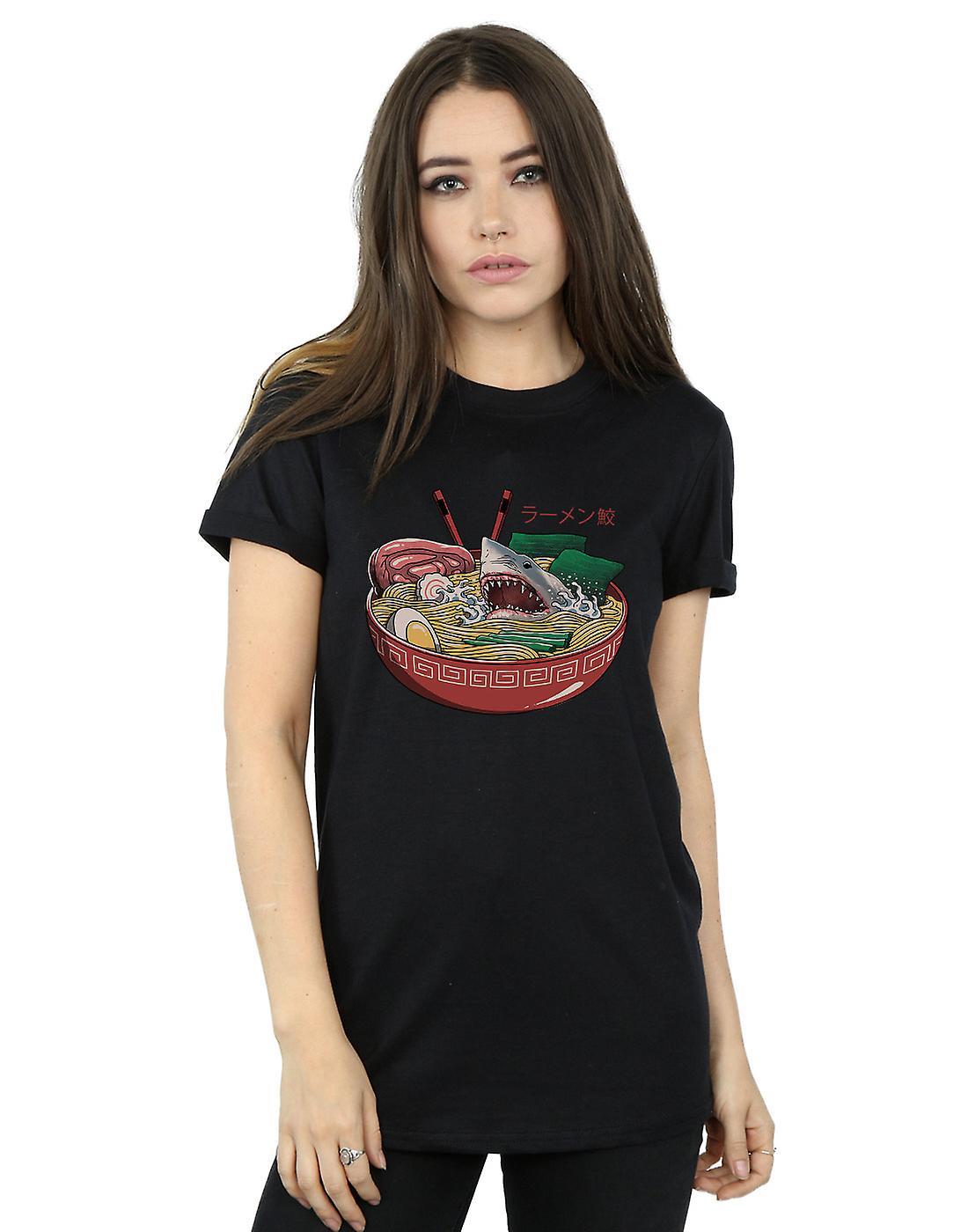 Vincent Trinidad Women's Ramen Shark Boyfriend Fit T-Shirt
