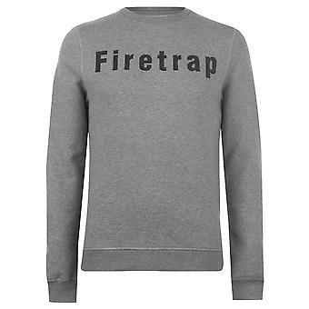 Firetrap Mens Graphic Crew Sweater T-Shirt Tee Top