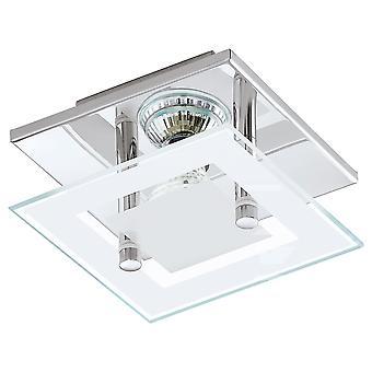 Eglo - Almana Chrome & glas Single LED Spot plafond licht EG94224