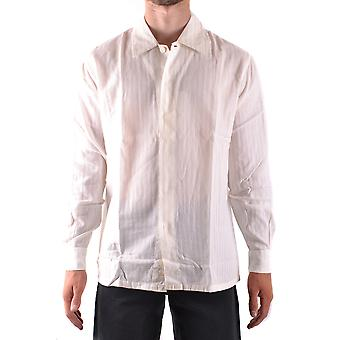 Armani Collezioni Ezbc049118 Men's White Cotton Shirt