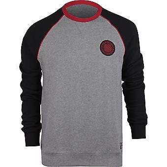 Fox Racing Mens Chu Crew Fleece Shirt - Heather Graphice/Black/Red