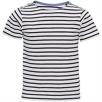 Asquith & Fox Childrens/Kids Mariniere Coastal Short Sleeve T-Shirt (Pack of 2)