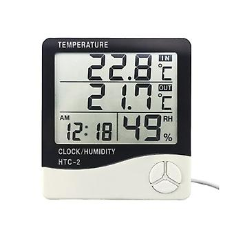 Weather station with humidity and clock