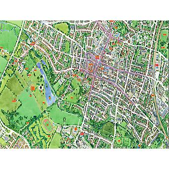 Cityscapes Street Map Of St Albans 400 Piece Jigsaw Puzzle 470mm x 320mm (hpy)