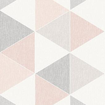 Pink Scandi Triangle Wallpaper Apex Modern Luxury Abstract Geometric Arthouse