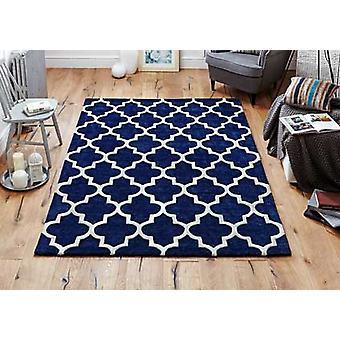 Arabeske Blau Rechteck Teppiche Plain/fast schlicht Teppiche
