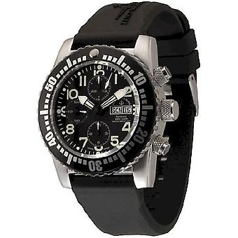 Zeno-Watch Herrenuhr Airplane Diver Automatic Chronograph, black 6349TVDD-12-a1