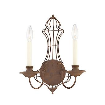 Laila to lys Wall Light - Elstead belysning q / q/LAILA2