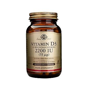 Solgar Vitamin D3 2200 IU Vegetable Capsule, 100