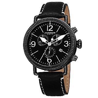 Montre en cuir véritable chronographe akribos XXIV AK753SS Swiss