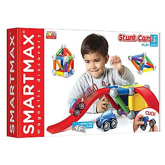 SmartMax Stunt Cars Magnetic Building Set 46 PCs