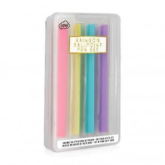 Ensemble de stylos doux Rainbow Ball Point