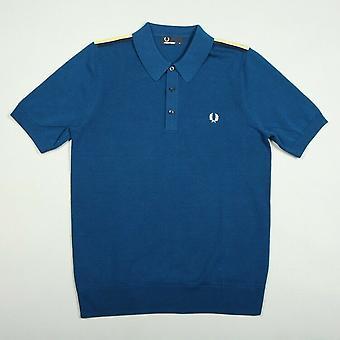 Fred Perry skulder Tape strikket menn kort Shirt Polo K6221-174