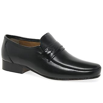 Rombah Wallace Regent Black Leather Formal Slip On