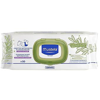 Mustela Cleaning Wipes with Olive Oil 50