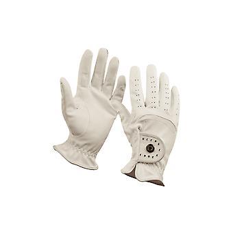 Dublin Diamante Patent Dressage Adults Riding Gloves - Blanco