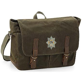 Worcestershire & Sherwood Foresters - Licensed British Army Embroidered Waxed Canvas Messenger Bag