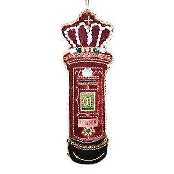 Gisela Graham Velvet London Letterbox Decoration | Gifts From Handpicked