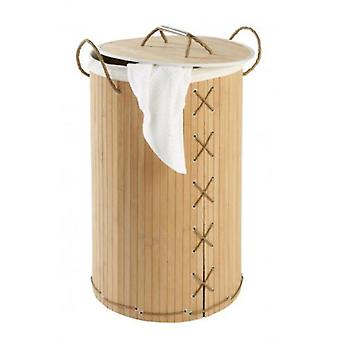 Wenko Basket for clothes Bamboo brown pongotodo 55 liters