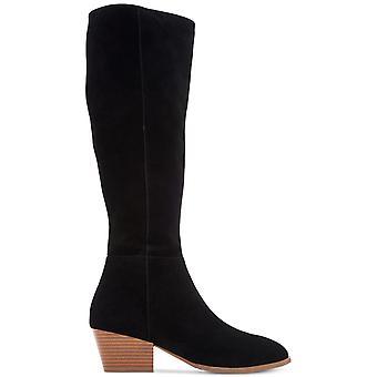 Style & Co. Womens Izalea Leather Almond Toe Knee High Fashion Boots