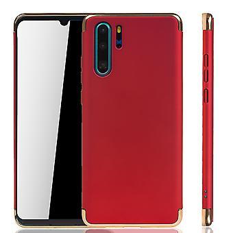 Huawei P30 Pro מקרה טלפון הגנה במקרה מחבט קשיח כיסוי אדום